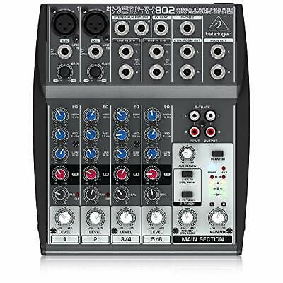 Behringer 802 8 Input 2 Bus Premium Mixer With Xenyx Mic Preamps &  British EQs • 57.99£