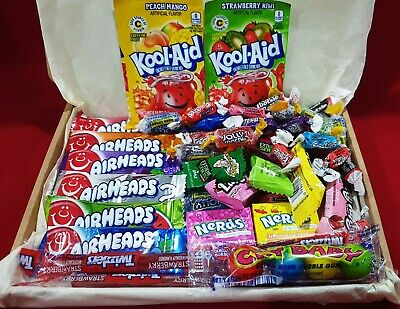 American Sweets Gift Box Candy Hamper Airheads Reeses Nerds - Over 45 Pieces • 9.99£