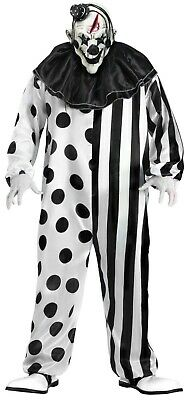 $39.99 • Buy Evil Scary Killer Klown Clown Black White Adult Costume With Mask Standard Size