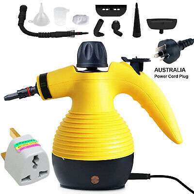 Steam Cleaner Hand Held Steamer Kitchen Bathroom Tile Universal Cleaning Yellow • 19.90£