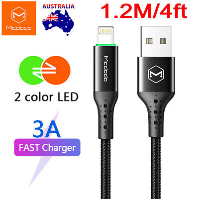 AU22.99 • Buy Mcdodo Lightning Cable Heavy Duty Charging Syn Charger IPhone 7 8 Plus XR XS Max