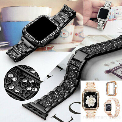 AU18.99 • Buy Bling Stainless Steel Wrist Bracelet Watch Band For Apple Watch Series 5 4 3 2 6