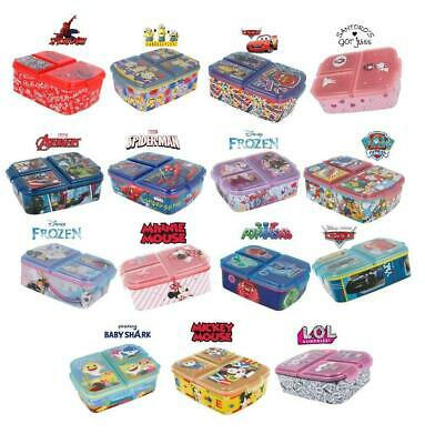 New Design Kids Character 3 Compartment Sandwich Lunch Box School Licenced Item • 12.76£