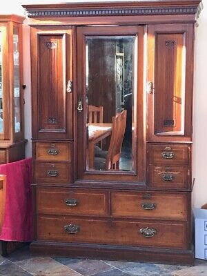 AU950 • Buy Antique Edwardian Wardrobe