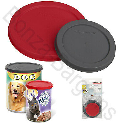 PET FOOD CAN COVER PET Plastic Lids Top Tin Caps Fresh Storage LARGE STANDARD • 2.99£
