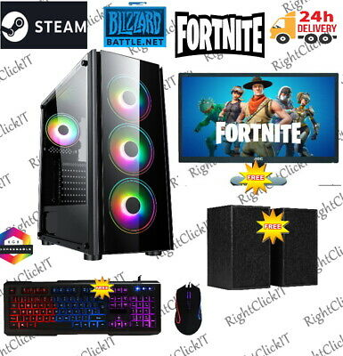Fast Gaming PC Computer Bundle Intel Quad Core I5 16GB 1TB Win 10 GTX 1050Ti • 379.99£