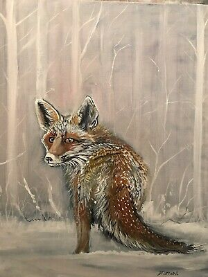 Red  Fox,hare,rabbit,hunting,wildlife,oil On Canvas • 160£