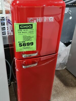 AU495 • Buy CHiQ 216L Retro Top Mount Fridge CRTM212R