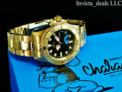 $ CDN104.26 • Buy Invicta Men's 43mm Pro Diver POPEYE AUTOMATIC Black Dial Ltd Ed Gold Tone Watch