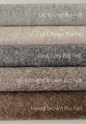De Witte Engel 100% Wool Bio Felt 20 Cm X 30 Cm X 1.2 Mm / Various Colours NEW! • 1.99£