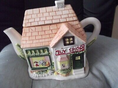 Collectable Ceramic Cottage Teapot The Toy Shop Rarely Available Collectors Item • 9.75£