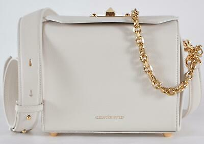 AU802.95 • Buy New Alexander McQueen 501105 $1,990 Off White Leather Box 19 Crossbody Purse Bag