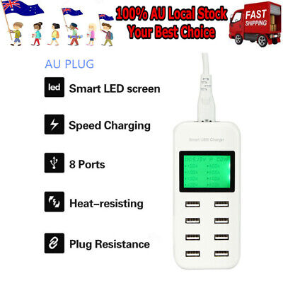 AU27.59 • Buy 8 Port Usb Charger Charging Station Usb Wall Charger Power Adapter Charger Hub