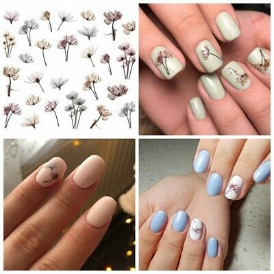 AU2.69 • Buy DIY Nail Art Water Transfer Decal Stickers Watercolour Blooming Flowers AU