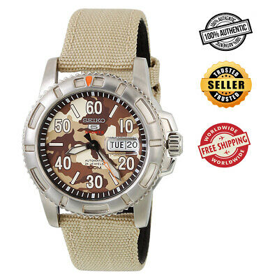$ CDN174.29 • Buy Seiko 5 Sports Automatic SRP221 SRP221K2 Men Camouflage Dial 100m Watch