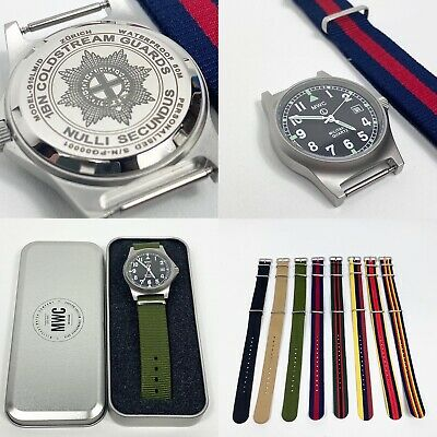 £95 • Buy Personalised G10LM MWC Military Watch 50M Engraved Wristwatch Any Logo Any Text