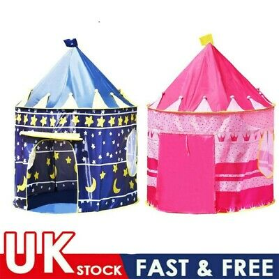 Foldable Kids Play Tent Playhouse Boys Girls Garden Tents Indoor Outdoor Toy • 8.98£