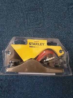 "Stanley 168mm 6-5/8"" Adjustable Wood Block Plane-21* Angle-Ideal Cross Planing • 17.95£"