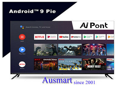AU479 • Buy Android 9.0 Chiq 43  50  55  58  65  75  4K Smart 8G Rom TV With Bluetooth