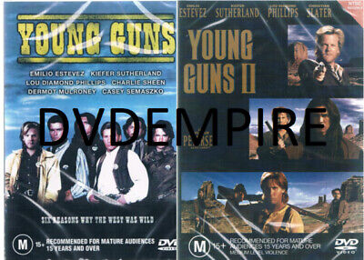 AU17.95 • Buy Young Guns 1 & 2  DVD New And Sealed Australia