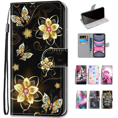 AU13.99 • Buy For IPhone 11 Pro X Xs Max XR 8 7 Case Pattern Leather Wallet Flip Card Cover