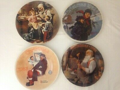 $ CDN32.67 • Buy Lot Norman Rockwell Knowles Christmas Plates 1982 1983 1984 Plus The Toy Maker