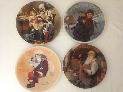 $ CDN22.84 • Buy Lot Norman Rockwell Knowles Christmas Plates 1982 1983 1984 Plus The Toy Maker