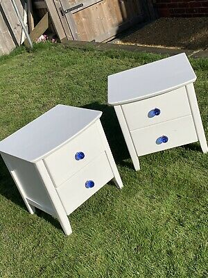 Upcycled Pair Of Bedside Tables Using *Annie Sloan* Chalk Paint In Pure • 20£