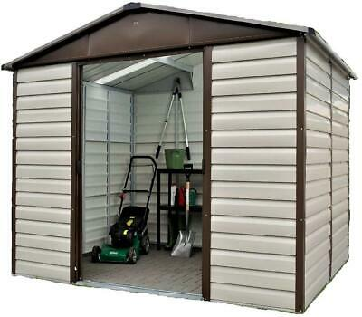 798 Returned Yardmaster Shiplap Metal Garden Shed - Max Ext Size 9'11 X 7'9  • 399.99£