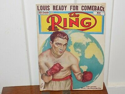 $10 • Buy Vintage May 1950 The Ring Magazine