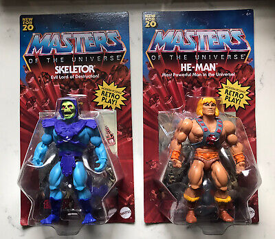 $54.99 • Buy 2020 Masters Of The Universe HE-MAN & SKELETOR Origins Retro Mattel - Unpunched!