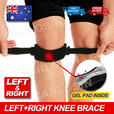 AU7.95 • Buy Knee Strap Brace Patella Tendon Support Protector Jumper Silicone Running Sport