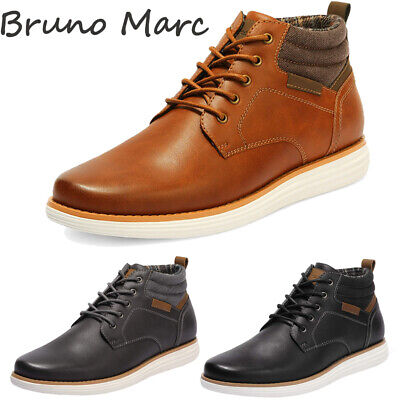 $30.39 • Buy Bruno Marc Men's Mid Top Chukka Boots Lace Up Stylish Dress Water-Resistant Shoe