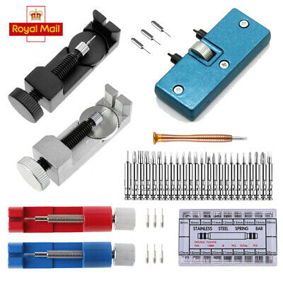 £3.85 • Buy Watch Band Repair Tool Link Pin Back Battery Cover Remover Spring Bars Set Kit