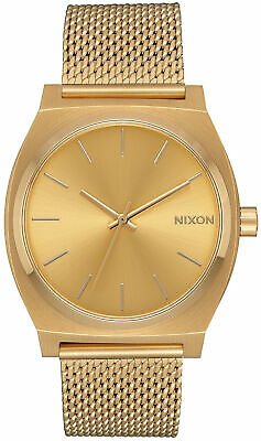 AU164.09 • Buy Watch Woman Nixon Mini Time Teller A1187502 Of Stainless Steel Gold Coloured