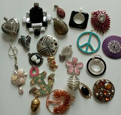 Large Mixed Joblot Bundle Costume Jewellery Necklace Pendants • 2.99£