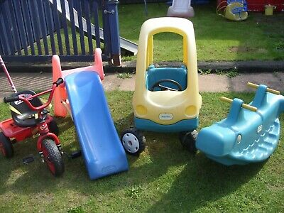 Little Tikes Outdoor Toddler  Toys - Car,  Slide, See-saw And Trike With Handle  • 30£