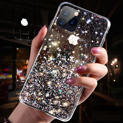 Bling Glitter Case For IPhone 6 7 8 Plus 11 XS 12 MAX Clear Gel Soft Phone Cover • 2.95£
