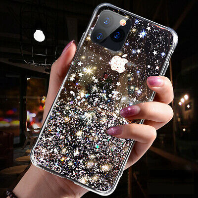 Bling Glitter Case For IPhone 6 7 8 Plus XR XS 11 MAX Clear Gel Soft Phone Cover • 2.95£