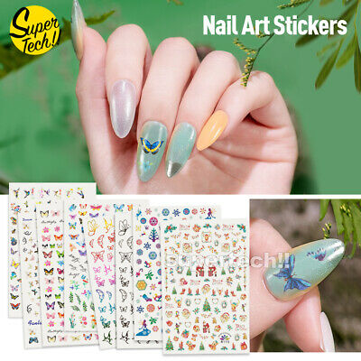 AU5.99 • Buy NEW 3D Nail Decor Decal Stickers Nail Art Accessories Butterfly Design Christmas