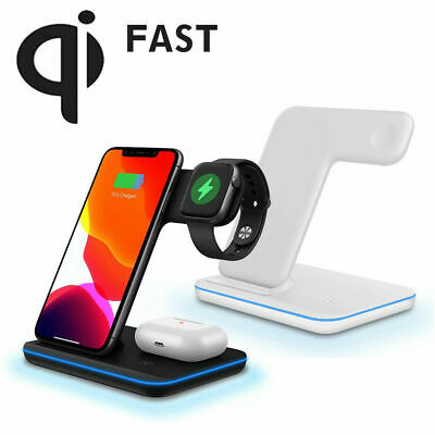 AU72.90 • Buy 3 In 1 Wireless Charger FAST Charging Dock For Apple IPhone Watch Air Pods 11 XR