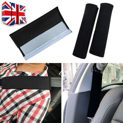 2 X Car Seat Belt Pads Harness Safety Shoulder Strap Back Pack Cushion Covers UK • 3.59£