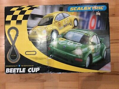 Scalextric  Vw Beetle Cup Set -  Both Cars In Excellent Condition. Complete ! • 35£