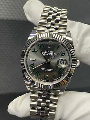 $ CDN16101.98 • Buy Rolex Datejust 41 Oyster Steel And White Gold Wimbledon Dial BrandNew Card 2020