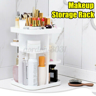 360° Rotating Makeup Organizer Storage Cosmetic Jewellery Holder Stand Cas • 10.67£