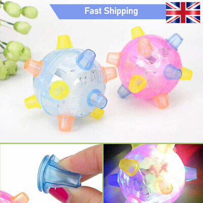 Pet Toys Jumping Activation Ball LED Jump Dance Ball Toy For Dog - UK • 5.31£