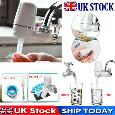 £13.99 • Buy Tap Water Purifier Faucet Ceramic Filtration Cleaner Home Kitchen Water Filter