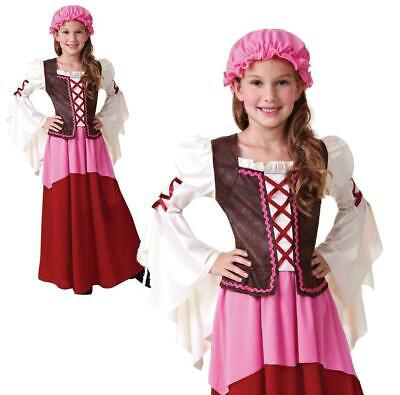 £12.99 • Buy Childrens Girls Little Tavern Costume Medieval Fancy Dress Outfit Book Week