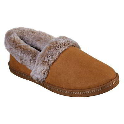 Skechers Cozy Campfire Womens Ladies Brown Slip On Memory Foam Slippers Size 4-8 • 31.49£