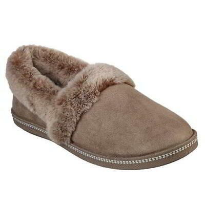 Skechers Cozy Campfire Womens Ladies Beige Slip On Memory Foam Slippers Size 4-8 • 31.49£